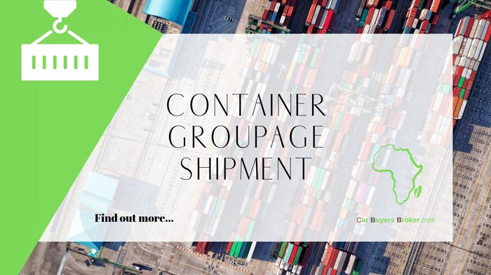 Container Groupage Shipment Service For Africa
