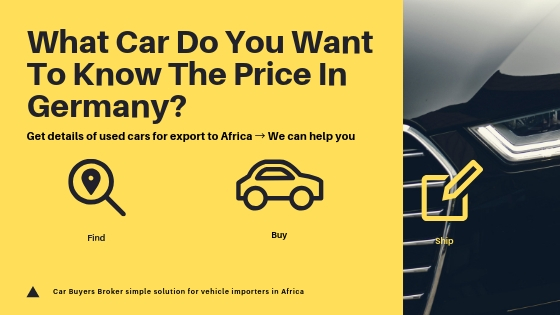 German Cars For Africa Request Price